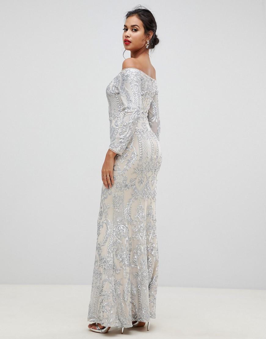 Bariano-suknia-wieczorowa-maxi-w-cekiny-S-36