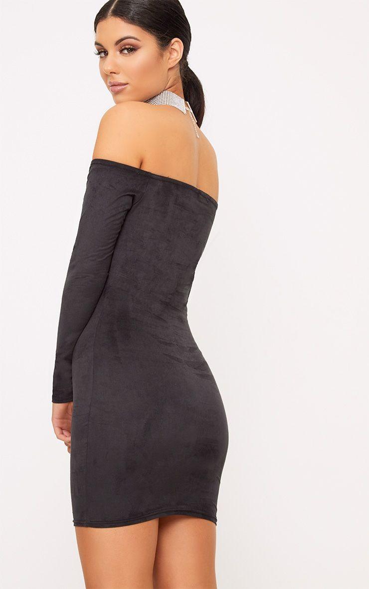 Pretty-Little-Thing-czarna-sukienka-slim-XS-34